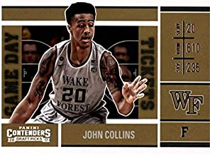 John Collins basketball card (Wake Forest Deamon Deacons) 2017 Panini Game Day Draft Picks Rookie #21