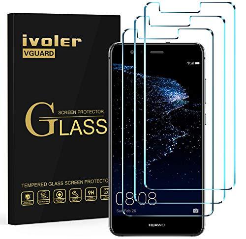 ivoler [3 Unidades] Protector de Pantalla para Huawei P10 Lite, Cristal Vidrio...
