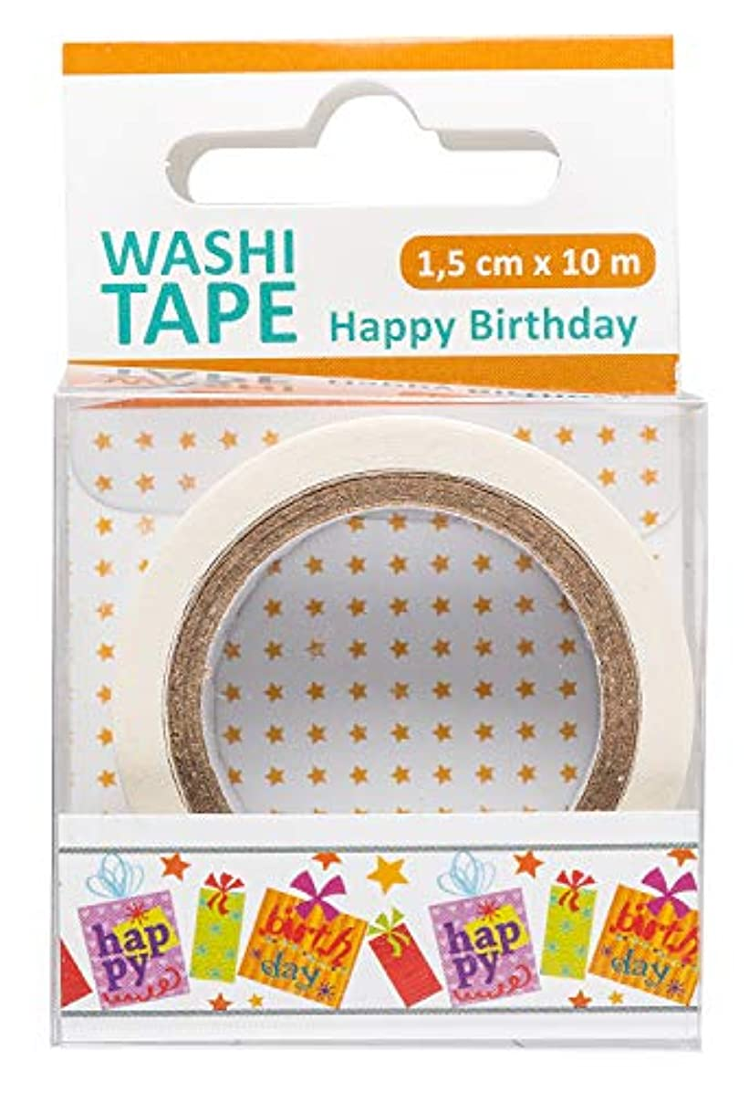 Washi Tape Happy Birthday 1 Roll 1.5cm x 10m