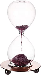 Magnetic Sand Timer-Magnet Glass Hourglass with a Iron Base Desktop Decoration Pink