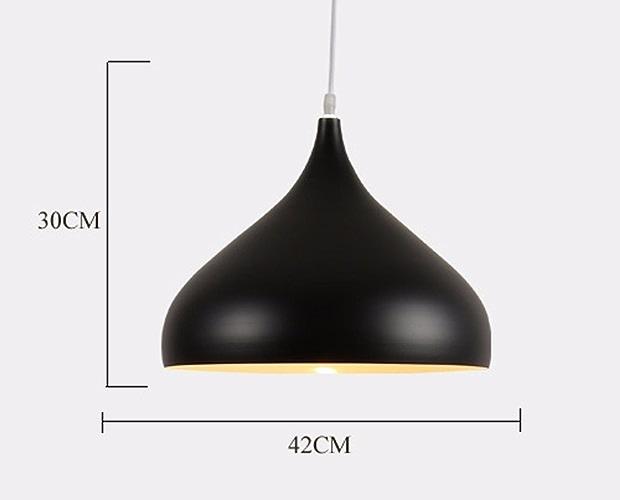 Nordic restaurant seule tête lustre,42cm noir