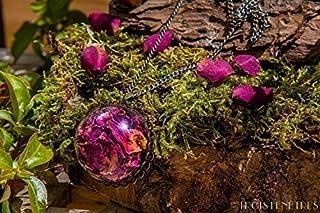 Pendente in vetro fatti a mano - petali di rose rosse - 30mm - Regalo Festa della mamma