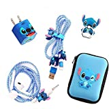 [2021 Upgrade Styles]DIY Protector Stitch Set,Data Cable USB Charger Data Line Earphone Wire Saver Protector Compatible for iPhone 7 8 Plus X iPad iPod iWatch Series (Stitch)