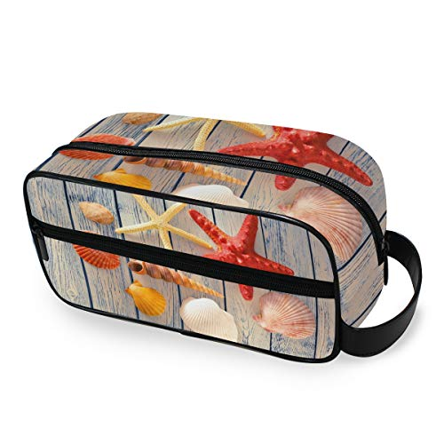 FAJRO Collection of Sea Muells Travel Cosmetic Bag Printed multifunktional Portable Kulturbeutel Kosmetik Make-up Tasche Organizer für Reisen