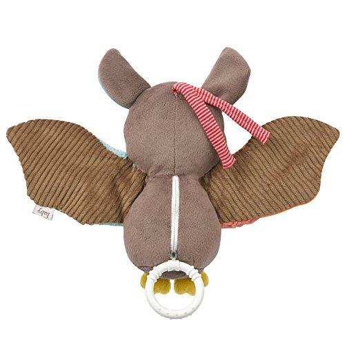 Fehn 067613 Spieluhr Fledermaus – Aufzieh-Spieluhr mit herausnehmbarem Spielwerk zum Aufhängen, Rascheln und Greifen, für Babys und Kleinkinder ab 0+ Monaten - 5