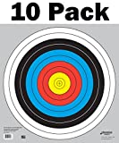 60 cm / 24 in Bullseye Archery (10 Ring) and Gun Targets by Longbow Targets (10 Pack)