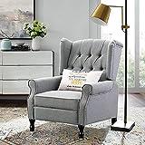 Altrobene Fabric Accent Chair, Modern Club Arm Chair, Tufted Wingback, Nailhead...
