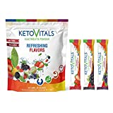 Keto Vitals Berry Antioxidant Electrolyte Powder Stick Packs   Keto Friendly Electrolytes Travel Packets   Variety Individual Packets   Energy Drink Mix   Zero Calorie   Zero Carb (Berry Assorted, 30)