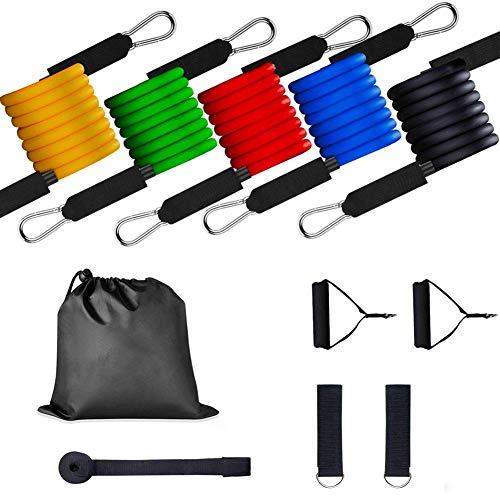 Jacqu Weerstandsbanden voor oefeningen, stapelbaar, tot 30 kg, voor outdoor-sporten in de open lucht