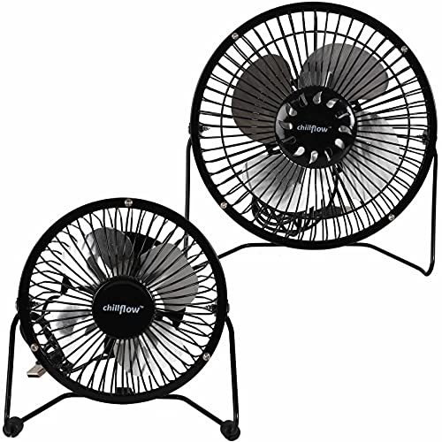 True Face Usb Desk Fan Cooling Fan with Metal Shell and Aluminium Blades Small Quiet Personal Cooler Portable Table Fan with Switch on/off Great for Desktop Tabletop Office & Travel 4 Inches