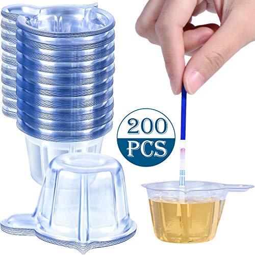 200 Stück Urin Becher Kunststoff Urin Sammelbecher Einweg Urin Probenbecher für Schwangerschaft Test, 40 ml