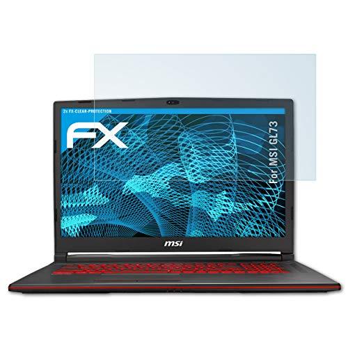 atFolix Schutzfolie kompatibel mit MSI GL73 Folie, ultraklare FX Bildschirmschutzfolie (2X)