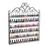 Dazone Nail Polish Wall Rack Organizer Hold 120 Bottles Nail Polish Shelf Black