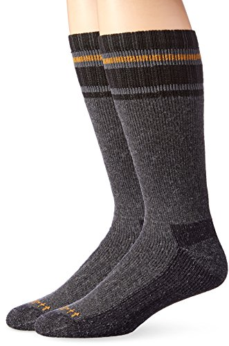 Carhartt Men's Heavy Duty Thermal Crew 2-Pair Socks, gray, Shoe Size: 6-12