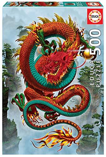 Educa Vincent HIE El dragón de la Buena Fortuna. Puzzle de 500 Piezas. Ref. 19003, Multicolor