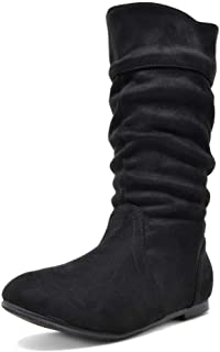 Girl's Faux Fur Lined Knee High Winter Riding Boots(Toddler/Little Kid/Big Kid)