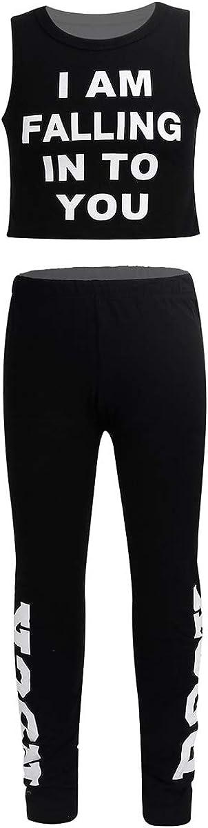 YOOJIA 2PCS Kids Girls Gymnastic Outfit Workout Selling rankings Modern Danc Max 55% OFF Jazz