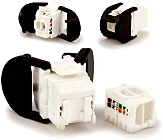 3M K6UH RJ45 Category 6 UTP Jack, with three cable entries VOL-OCK6-UHV Module