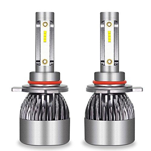 Kit D'ampoules De Phare De Voiture De LED - Kit De Conversion D'ampoules De Kit De Phare De Hi/Lo LED 12V / 24V Remplacent Pour Des Lampes D'halogène,9012