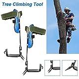 2 Gänge Baumklettern Spike Set Klettern Piton Sicherheitsgurt Einstellbare Lanyard Seil Rettungsgurt Persönliche Schutzausrüstung