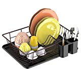 Best Dish Drainers - Dish Drying Rack,GSlife Dish Rack with Tray Small Review