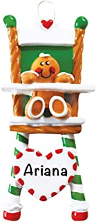 Gingerbread High Chair Personalized Ornament - (Unique Christmas Tree Ornament - Classic Decor for A Holiday Party - Custom Decorations for Family Kids Baby Military Sports Or Pets)