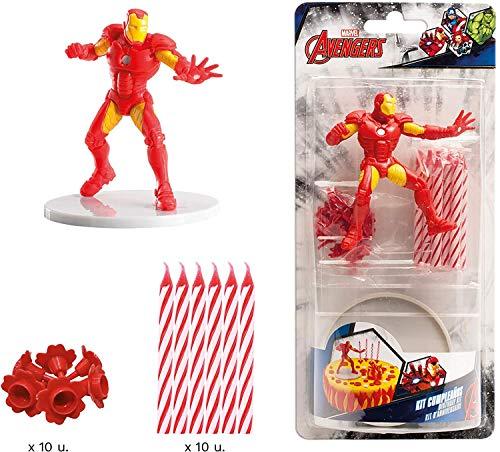 Dekora - 303005 Kit de Decoracion de Tartas con Figuras Decorativas de Iron Man