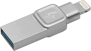 Kingston Bolt USB 3.0 Flash drive Memory Stick for Apple iPhone & iPads with iOS 9.0+, External Expandable Memory Storage, DataTraveler Bolt Duo, Take more photos & videos, 32GB – Silver