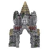 POPETPOP Acuario Buda Estatua Decoración Submarino Paisaje Escondite Resina Pez Escondite Ornamento...