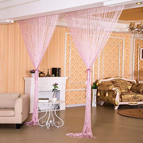 cortinas hilos plata