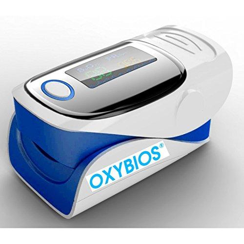 """DEDO Pulso Oxímetro azul""""all-in-one portable y pulso monitor con instrucciones en francés. Análisis y medición de la satur"""