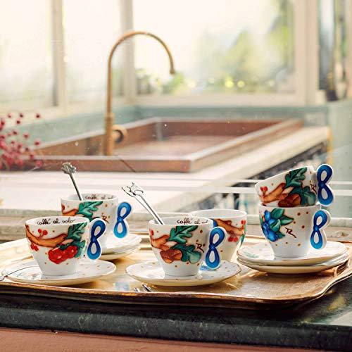 THUN ® - Set 6 Tazzine caffè - Linea Chiaro di Luna - Porcellana - 65 ml - Ø 6,5 cm