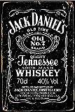 Cimily Jack Daniels Whiskey Vintage Blechschilder Zinn