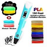 3D Pen, 3D Drawing Printing Printer Pen 150 Feet 12 Colors+3 Colors Random