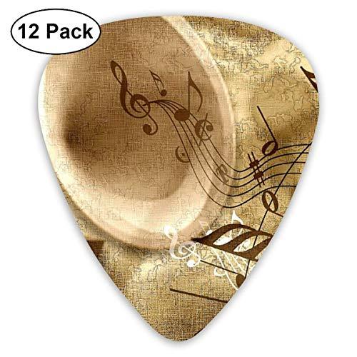 TUIU Pack de 12 púas de guitarra púas con soporte de púas, conjunto de púas de guitarra de celuloide con estampado de calavera para guitarra eléctrica acústica ukelele