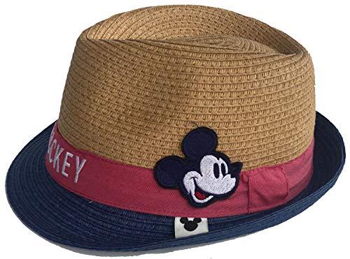 Mickey Mouse Strohhut Havanna Hut Sommerhut Strandhut Gr.48 und 50 blau und rot ET4094 (ROT, 48)
