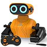 REMOKING Robot Toys for Boys Kids,Remote Control Robot Toys with LED Eyes & Flexible Arms,Dance & Sounds,Toys for 3 4 5 6 Year Old Boys Girls Kids,Children Educational Toys Birthday Gifts(Orange)