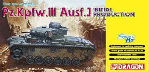 Dragon - D6463 - Maquette - Panzer III AUSFJ Production Initiale - Echelle 1:35