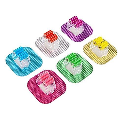 Bluelans® 1 x Support pour balais et serpillières de garage, crochets de rangement, Couleur aléatoire, 6 pièces
