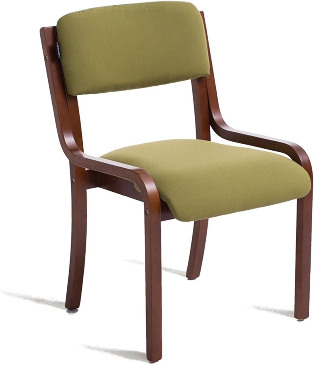 Wooden Chair Backrest That can be Used Desk Dining Makeup Learning Chair Home & Commercial Concise Style Brown Green