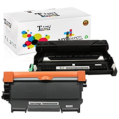 1 PACK/2 PACK/4 PACK/10 PACK Compatible with Brother TN450 Toner Cartridge; Black Drum Unit for Brother DR420; 2 Toner + 1 Drum