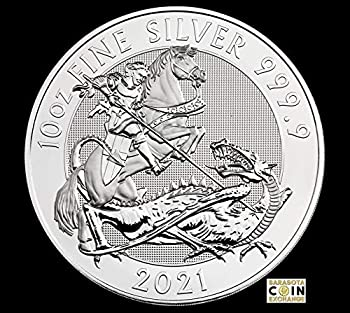 2021 British Silver Valiant Contains 10 Troy oz of .9999 pure silver in BU condition Issued a face value of 10 Pound sterling  GBP  by Britain 10 Pounds Royal Mint The Royal Mint BU
