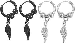 Stainless Steel Hoop Huggie Earrings Men Women Drop Dangle Charms Earrings