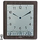 AMS Moderno Reloj de Pared, Reloj Controlado por Radio, Funciona con Pilas Inalámbrico - Reloj de Pared 24cm - 5893