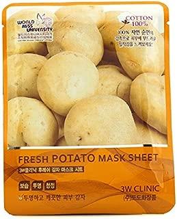 3W Clinic Mask Sheet Fresh Potato 10pcs