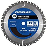 COMOWARE Circular Saw Blades 7 1/4 inch - 40 Tooth ATB , Premium Tip, Anti-Vibration with 5/8 inch...