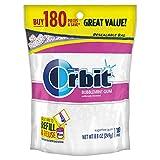 ORBIT Bubblemint Sugarfree Gum, 8.8-Ounce Resealable Bag, 180 Pieces