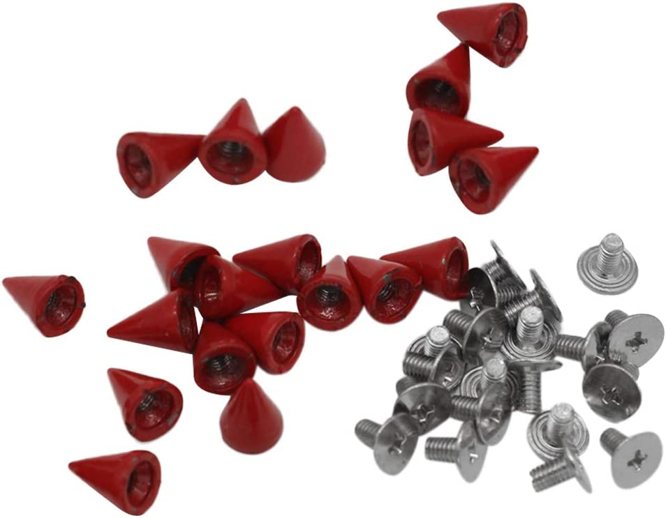 Bonarty 20x Red Metal Studs Rivet Craft Leather for Cone ...