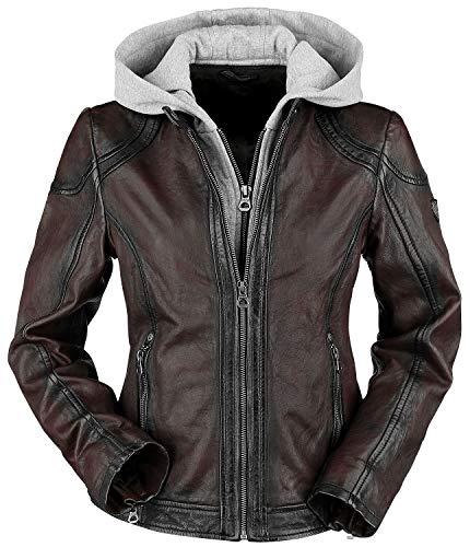 Gipsy Angy W18 LASANV Frauen Lederjacke dunkelrot L 100% Leder Basics, Biker