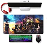 Anime Large Gaming Mouse pad Non-Slip Rubber Base Suitable for Game Players Home Office 15.8x29.5Inch